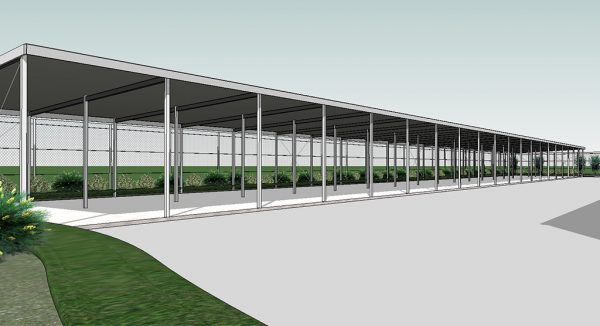 self storage facility mockup