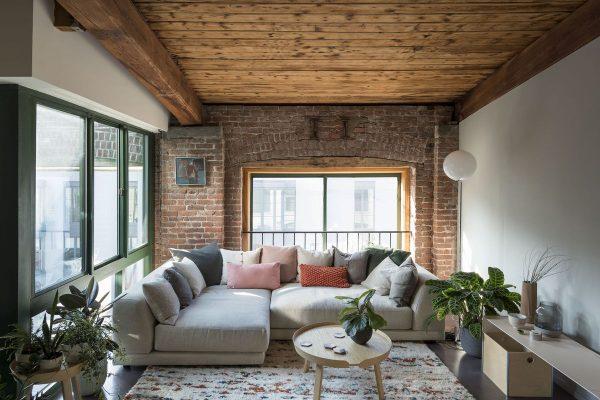interior design with brick